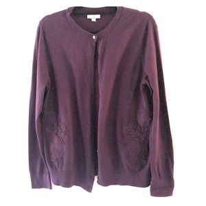 LOFT dark purple cardigan